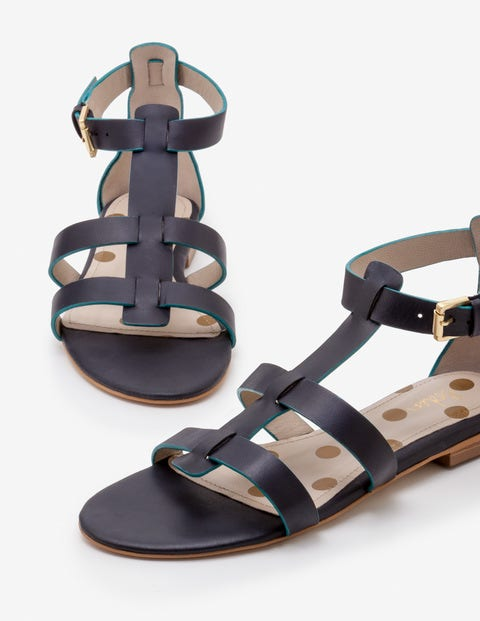 Eva Gladiator Sandals   Navy by Boden