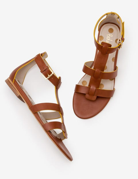 Eva Gladiator Sandals   Tan by Boden