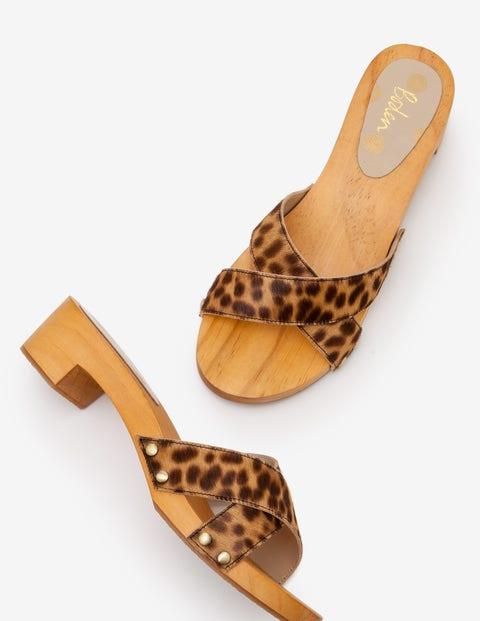 Orella Clogs - Tan Leopard