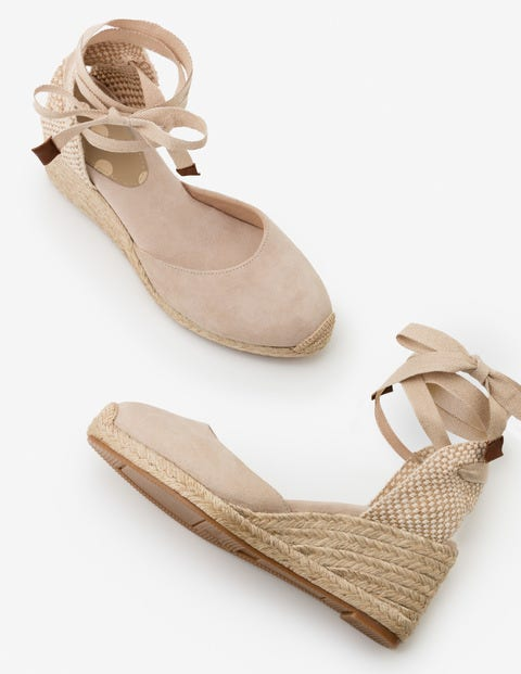 Cassie Espadrille Wedges - Oatmeal