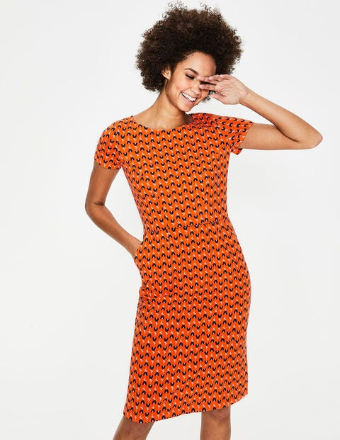 Phoebe Jerseykleid Orange Damen Boden, Orange