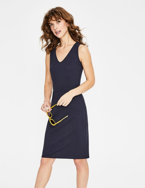 Melinda Jersey Dress - Navy