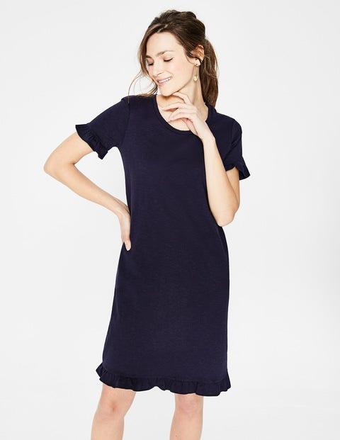 Emily Jersey Dress - Navy