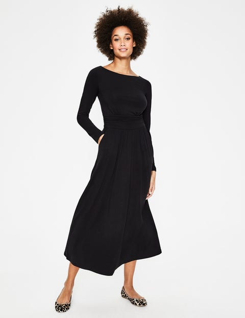 Lucille Jersey Midi Dress - Black