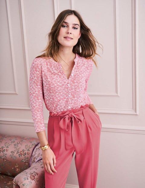 Bay Jersey Shirt - Garden Rose Floral Spray