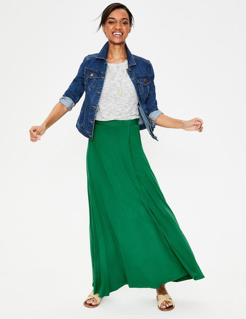 Albany Jersey Maxi Skirt - Highland Green