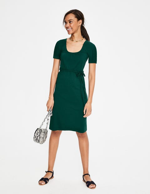 Elspeth Jersey Dress - Woodland Green