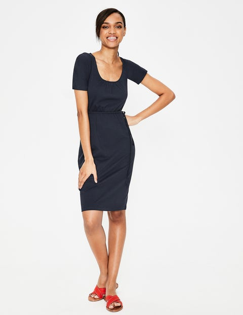 Elspeth Jersey Dress - Navy