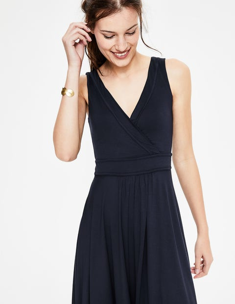 Lorna Jersey Dress - Navy