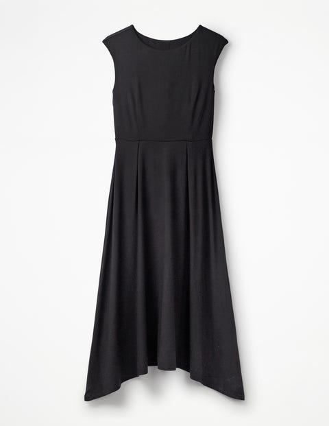 Polly Jersey Midi Dress - Black