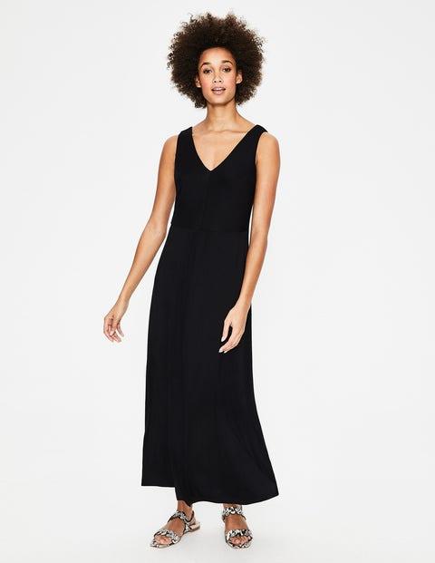 Octavia Jersey Midi Dress - Black