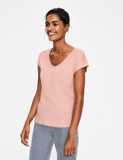 Linen Voop Tee - Chalky Pink