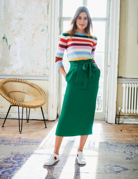 Cashmere Crew Neck Jumper - Multi Stripe
