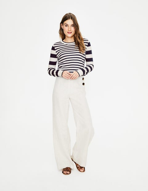 Lydia Jumper - Navy and Ivory Stripe