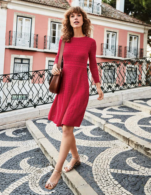 Poppy Knitted Dress - Dark Rose
