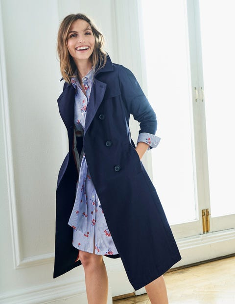 Whitstable Trench Coat - Navy