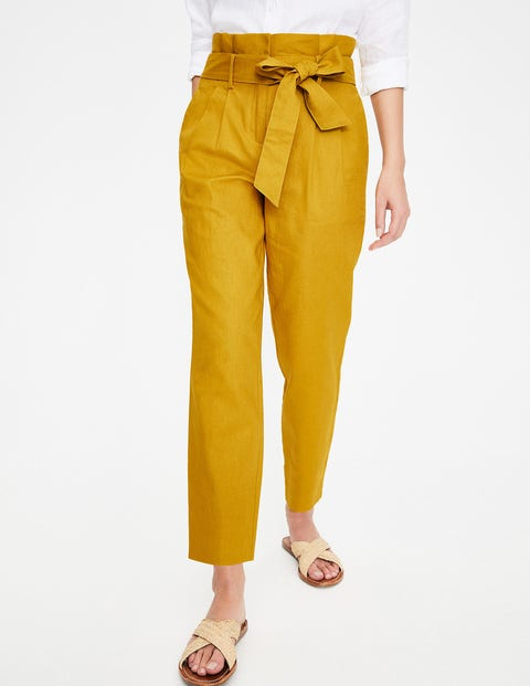 St Ives Paperbag Trousers - Dijon