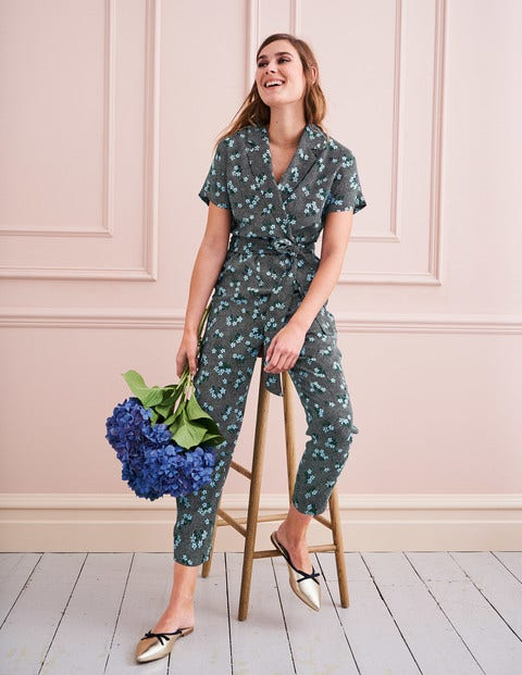 Frederica Jumpsuit - Navy and Blue, Daisy Field