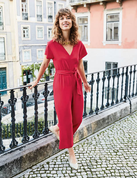 Romilly Jumpsuit - Dark Rose