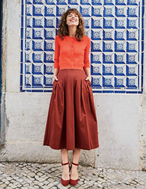 Theodora Pleated Skirt - Conker