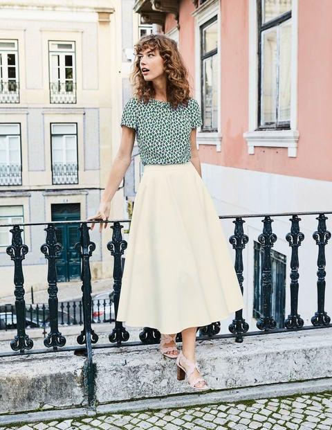 Delilah Midi Skirt - Ivory