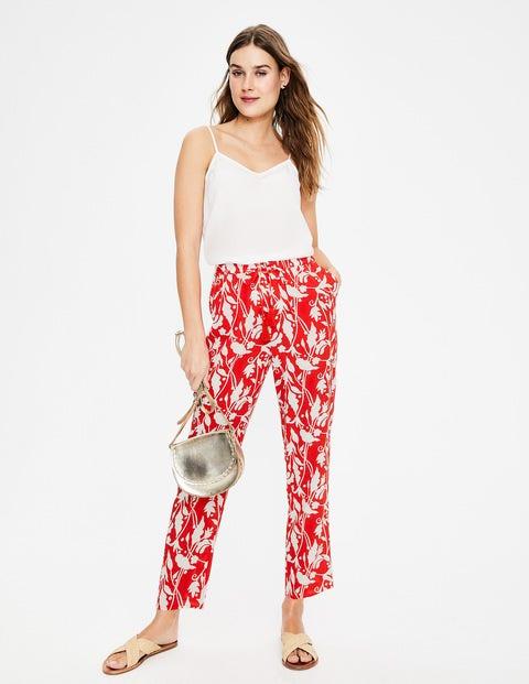Bembridge Pants - Red Pop, Jungle Palm