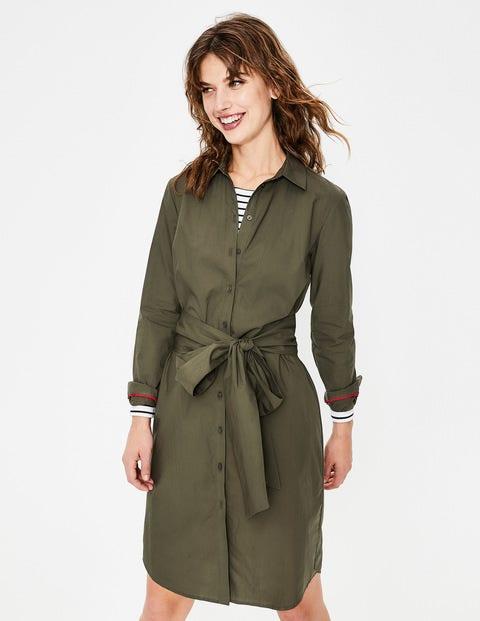 Modern Shirt Dress - Khaki