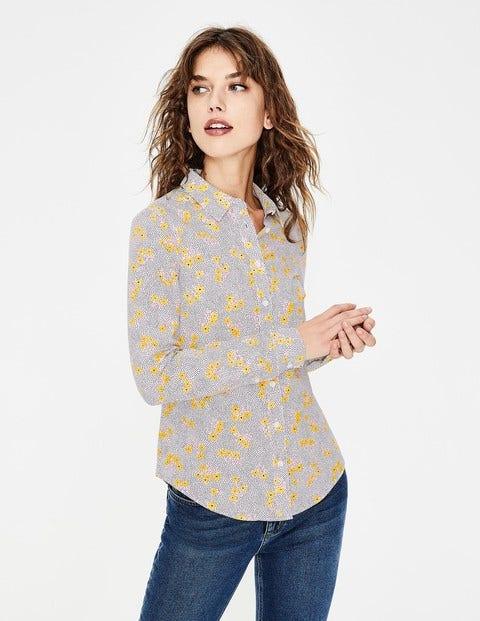 Modern Classic Shirt - Ivory Daisy Field