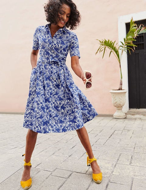 Anastasia Shirt Dress - Lapis, Otomi