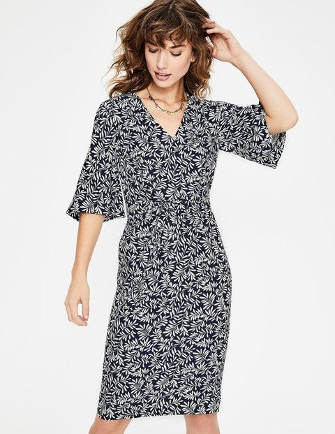 Ines Dress - Navy Olive Branch