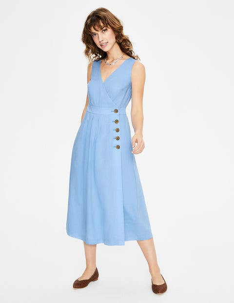 Arwen Midi Dress - Hazy Blue