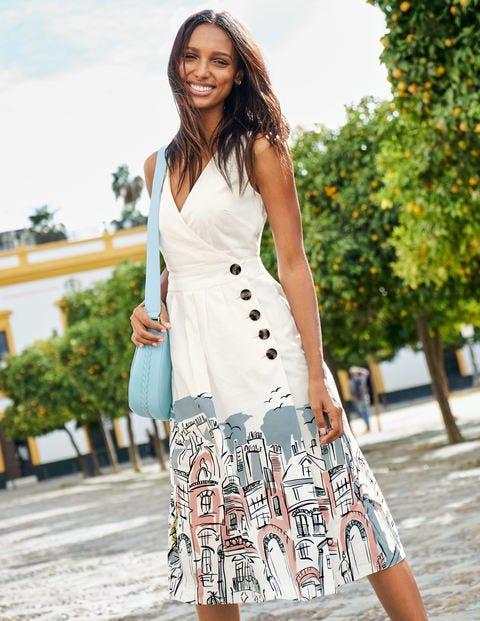 Arwen Midi Dress - Ivory Street Scene