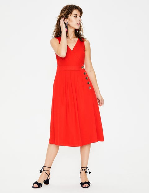 Arwen Midi Dress - Red Pop