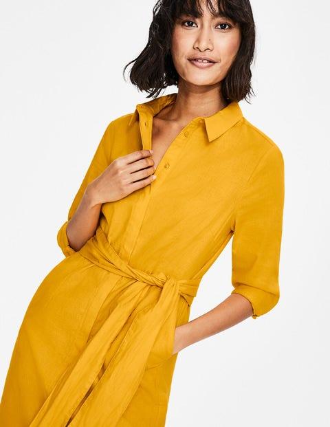 new product latest selection on sale online Freya Linen Shirt Dress - Happy