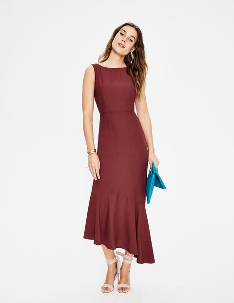 Robe midi Tessa - Marron