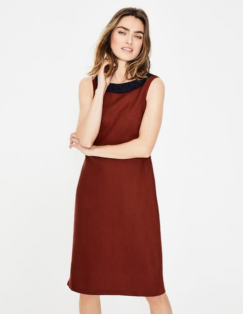 Imelda Linen Dress - Conker