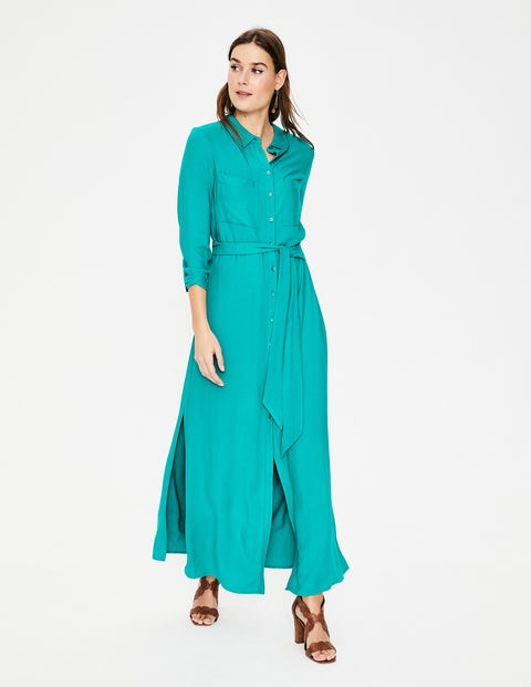 Katrina Maxi Shirt Dress - Ultramarine