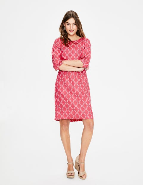 Kate Linen Dress - Strawberry Pineapple Lattice