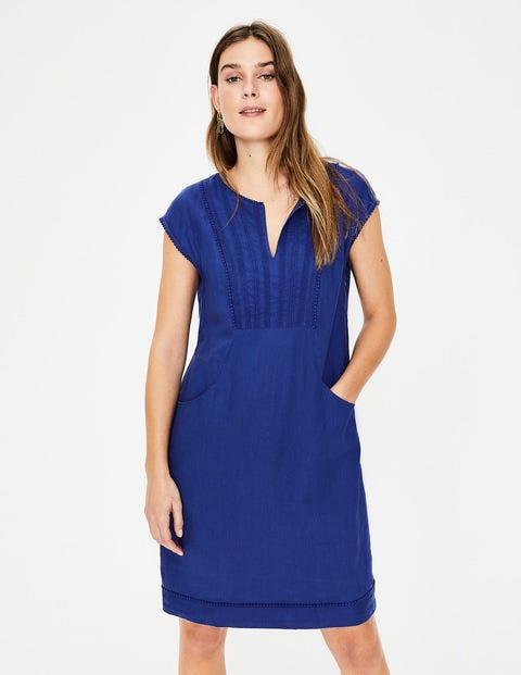 Jessica Linen Dress - Lapis