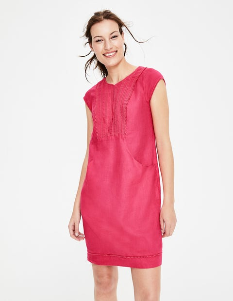 Jessica Linen Dress - Strawberry Split