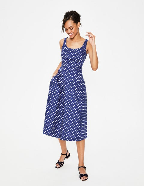 Sabina Midi Dress - Lapis Spot Star