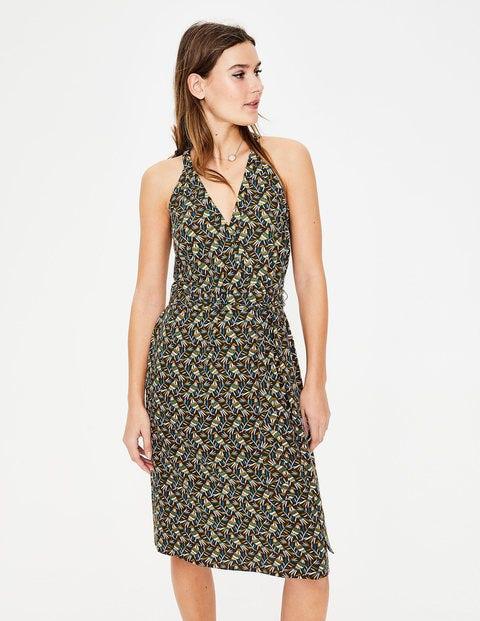 71bb77838df8 Olwen Dress - Classic Khaki, Bird Otomi   Boden UK