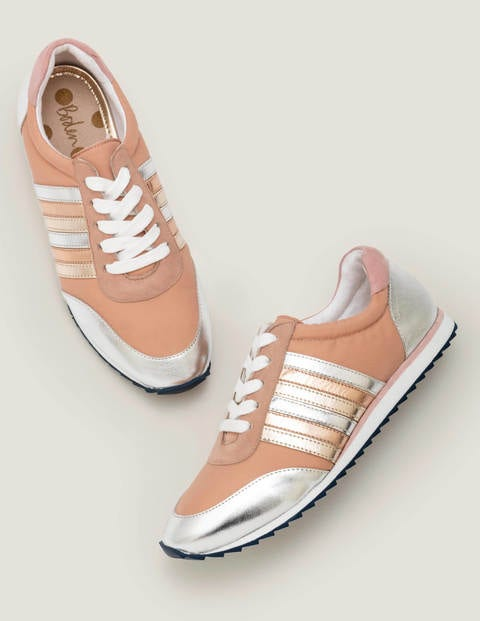Striped Trainers - Fawn Rose