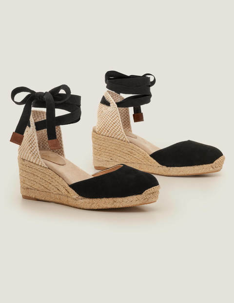 Cassie Espadrille Wedges - Black