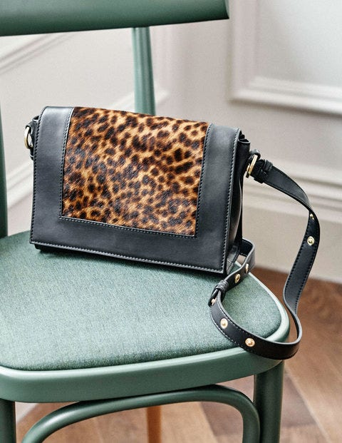 Stamford Multiway Bag - Tan Leopard/Black