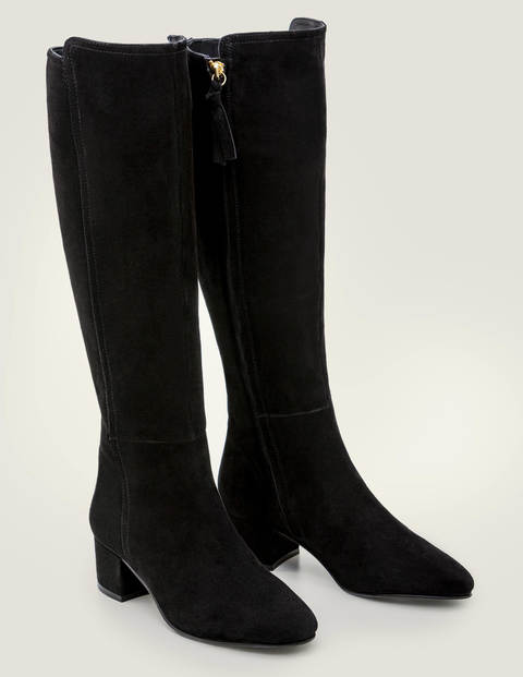 Kennford Knee High Boots - Black