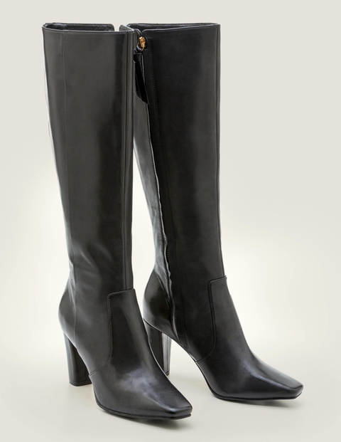 Waveney Knee High Boots - Black