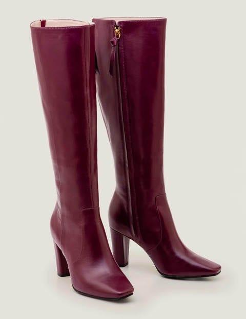 Waveney Knee High Boots - Ruby Ring