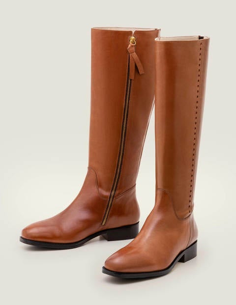 Allercombe Knee High Boots   Tan by Boden