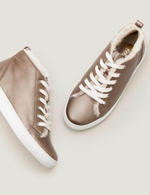 Shearling High Top Sneakers